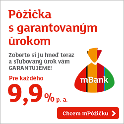 Pôžička s garantovaným úrokom - zoberte si ju hneď teraz a sľubovaný úrok vám GARANTUJEME! Pre každého 9,9 % p.a.!
